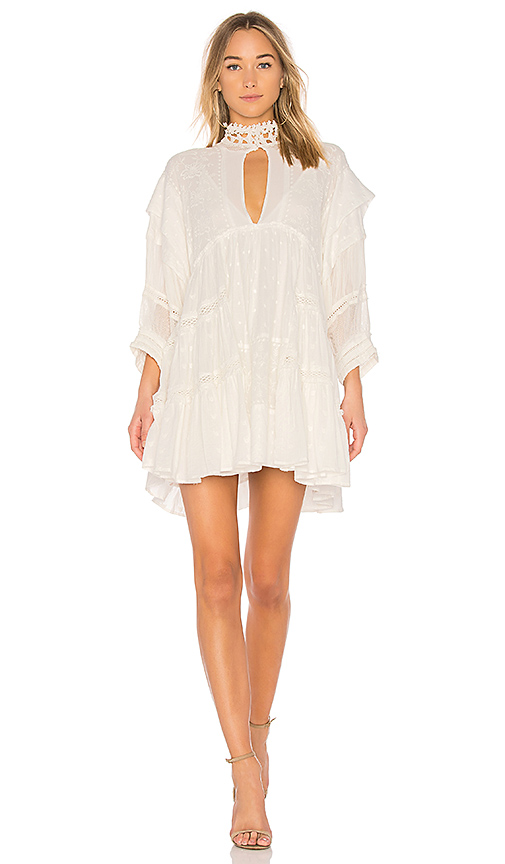 Free People Heartbreaker Mini Dress in White