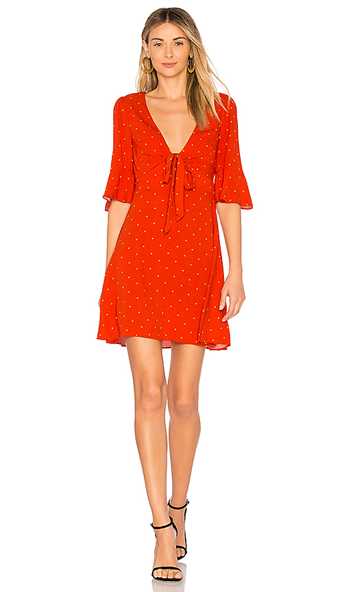 Free People All Yours Mini Dress in Red