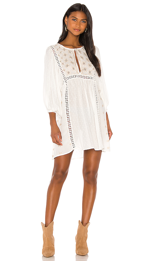 Free People Tops FREE PEOPLE CHARLOTTE TUNIC IN WHITE.