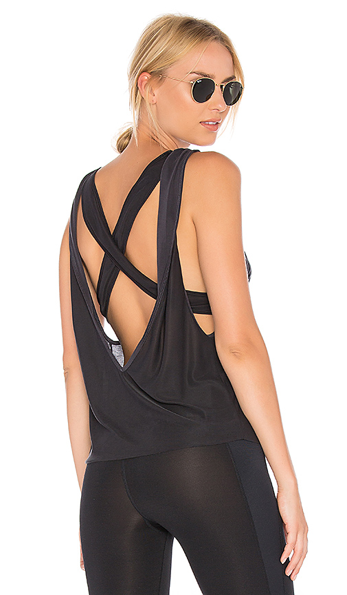 Free People Cross Train Tank in Black