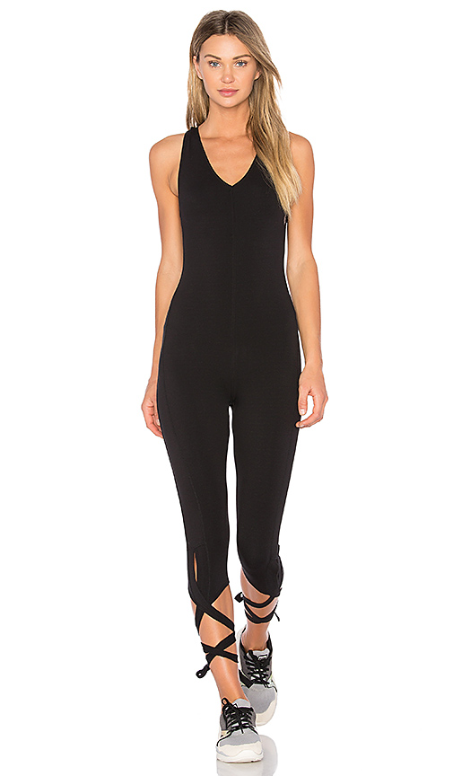 Free People Shakeout Bodysuit in Black