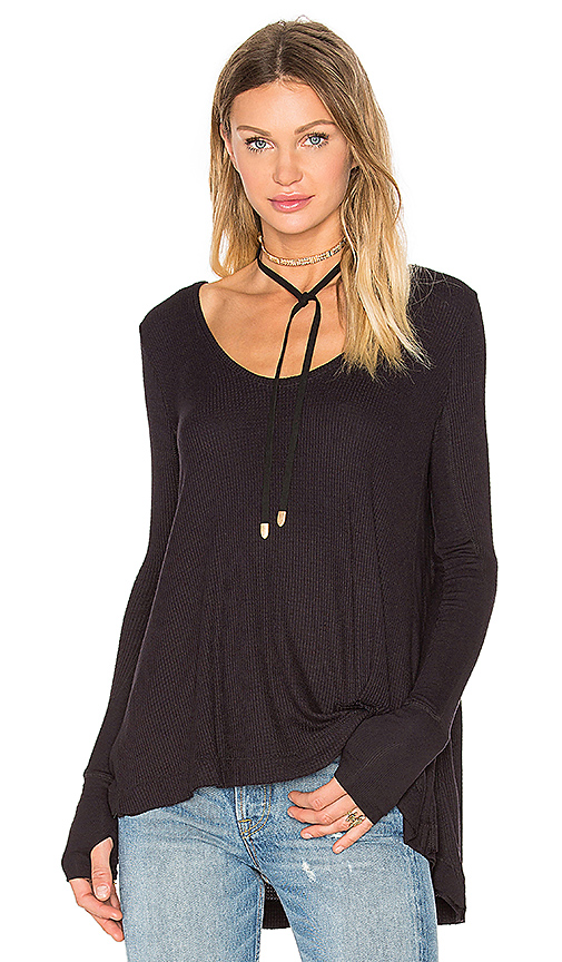 Free People Malibu Top in Black