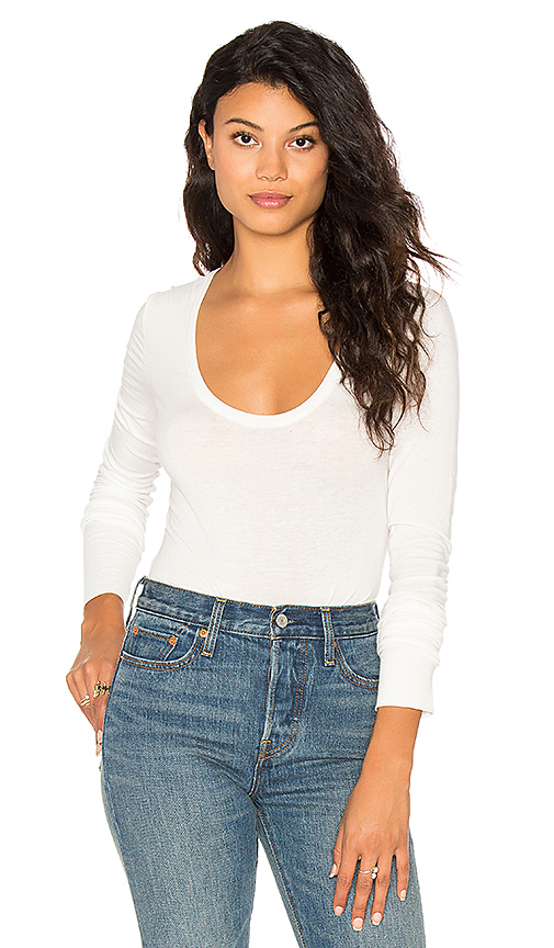 Free People Easy Peasy Bodysuit in White