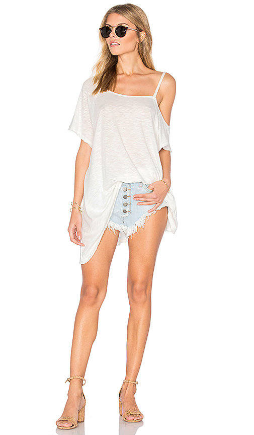 Photo of Free People Coraline Tee in White - shop Free People tops sales