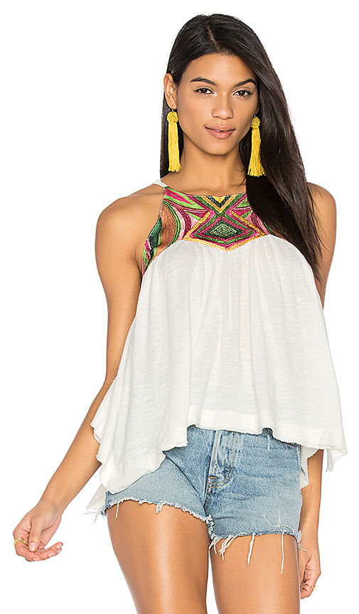 Free People Beach Date Tank in White