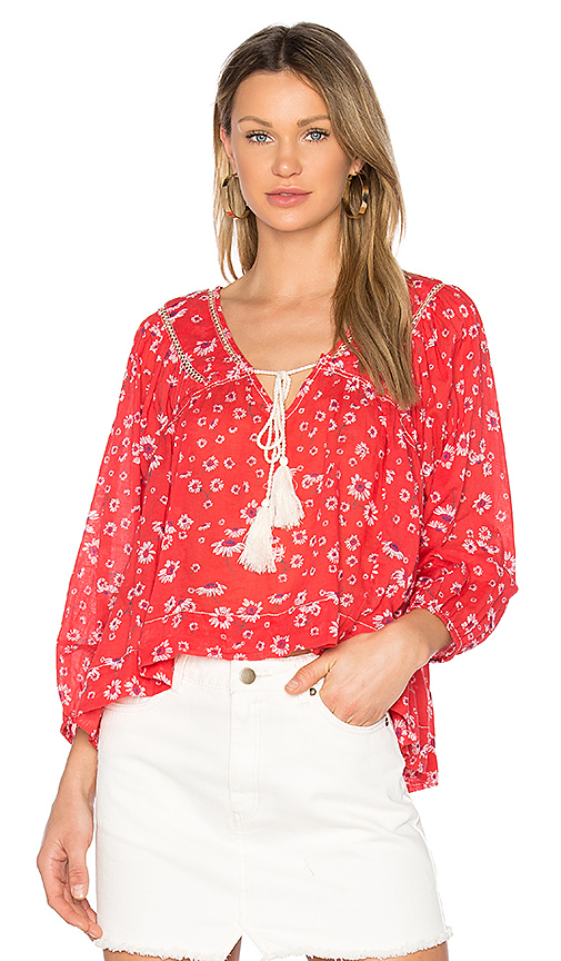Photo of Free People Never a Dull Moment Blouse in Red - shop Free People tops sales