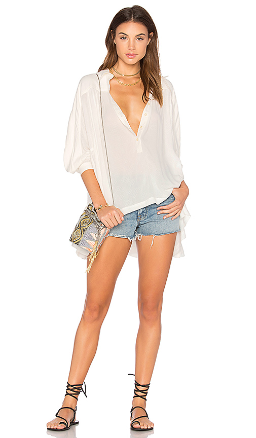 Photo of Free People Lovely Day Button Down Top in White - shop Free People tops sales