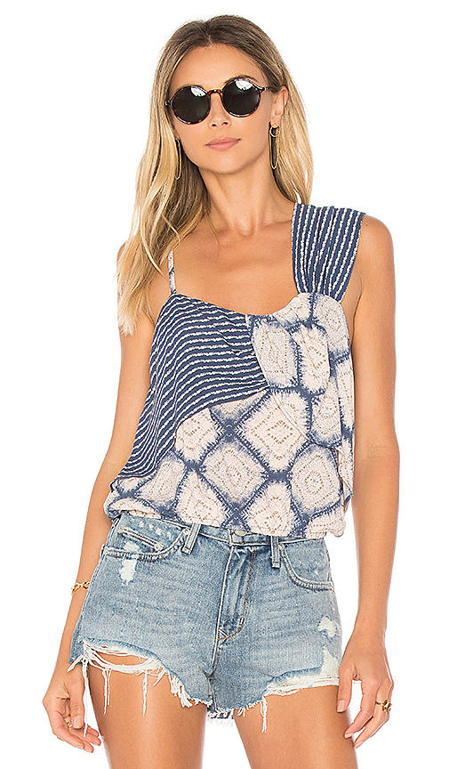 Free People Call On Me Print Top in Blue