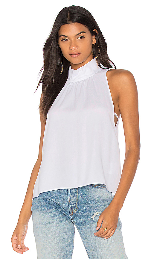 Free People Palm Breeze Halter Top in White