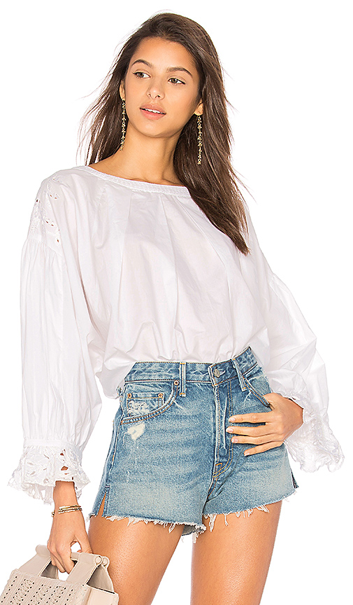 Free People Wishing Well Blouse in Ivory