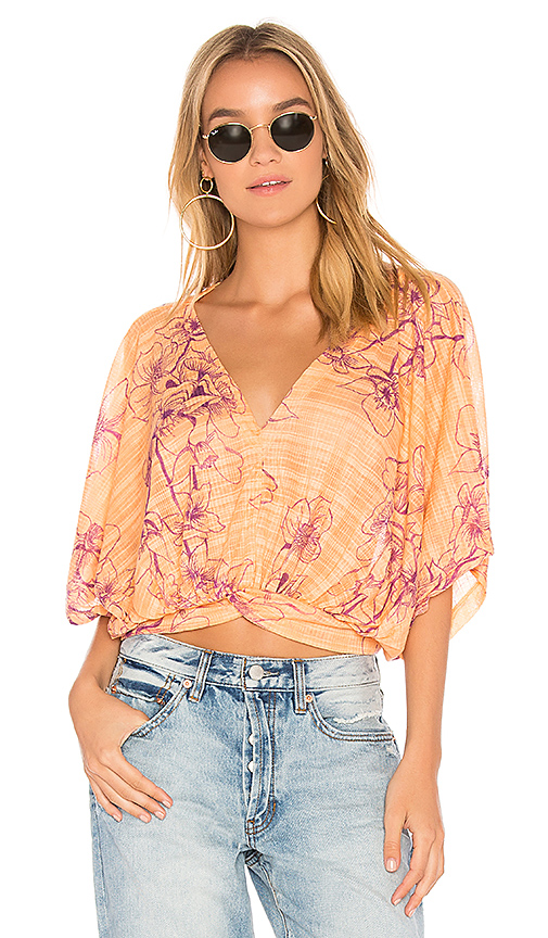 Free People One Dance Top in Orange