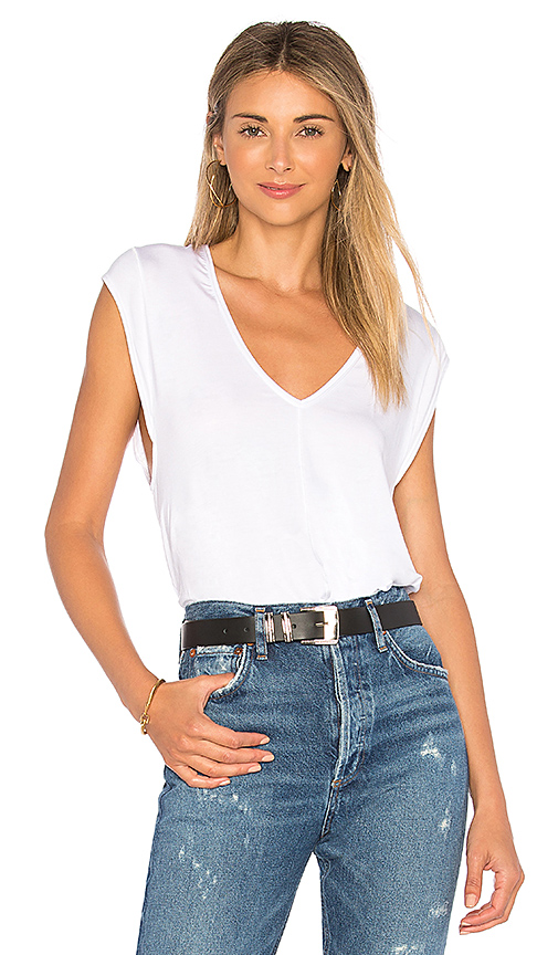 Free People Tees For My Jeans Bodysuit in Ivory