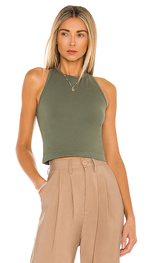 Free People Tops FREE PEOPLE HAYLEY RACERBACK TANK TOP IN ARMY.