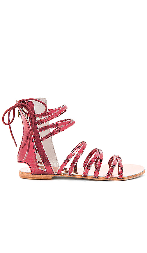 Photo of Free People Juliette Wrap Sandal in Red - shop Free People shoes sales
