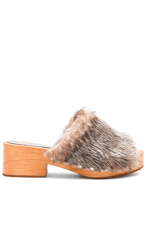 Free People Faux Fur Sonnet Clog in Gray