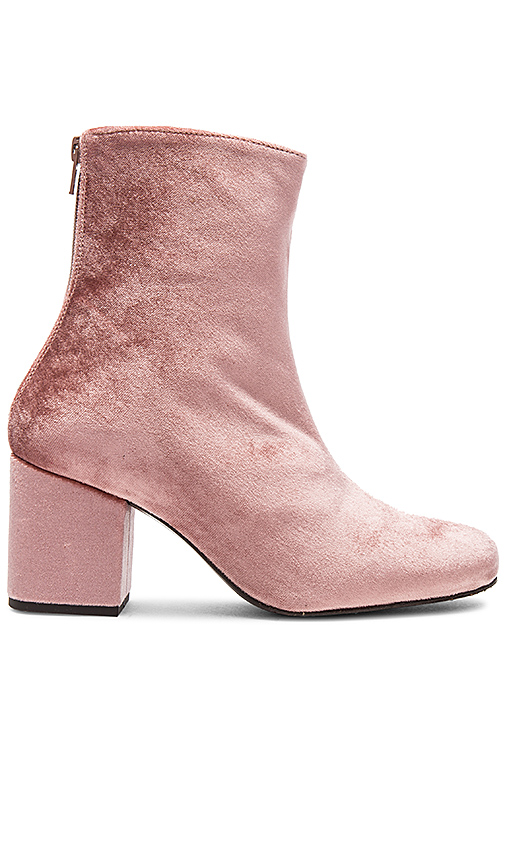 Photo of Free People Velvet Cecile Bootie in Rose - shop Free People shoes sales