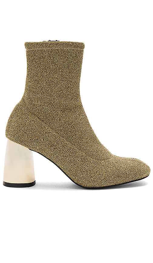 Free People Spectrum Sock Boot in Metallic Gold