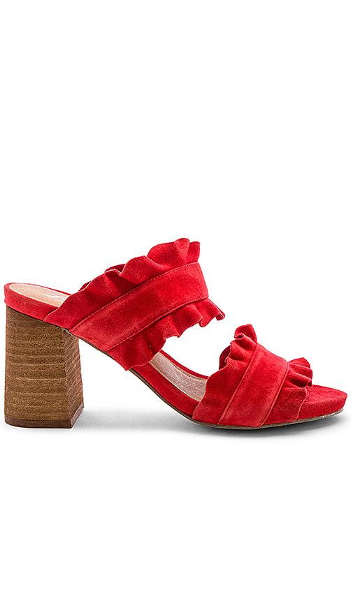 Free People Rosie Ruffle Heel in Red