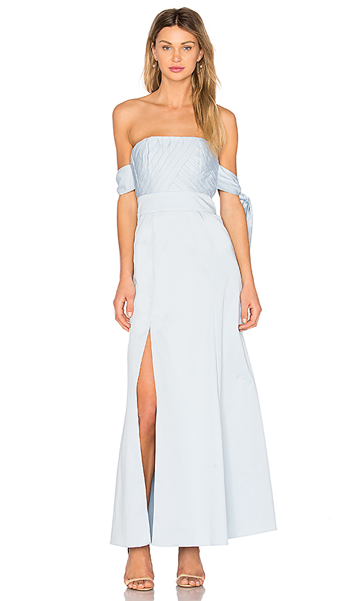 FAME AND PARTNERS X REVOLVE Sandrine Maxi Dress in Baby Blue