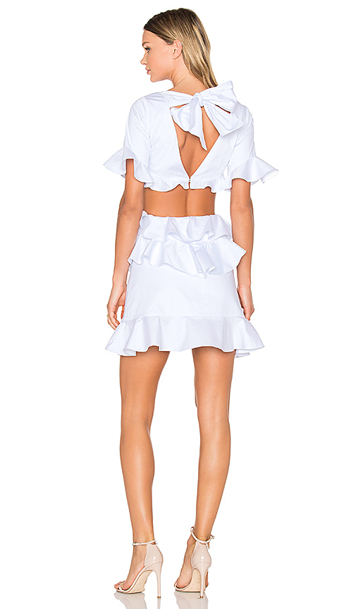 FAME AND PARTNERS X REVOLVE Xavier Mini Dress in White