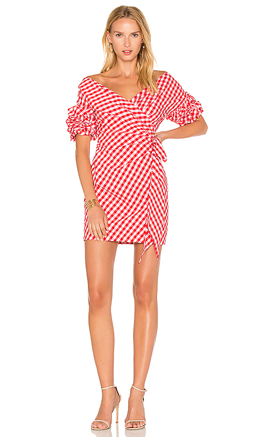 FAME AND PARTNERS x REVOLVE Russo Wrap Dress in Red