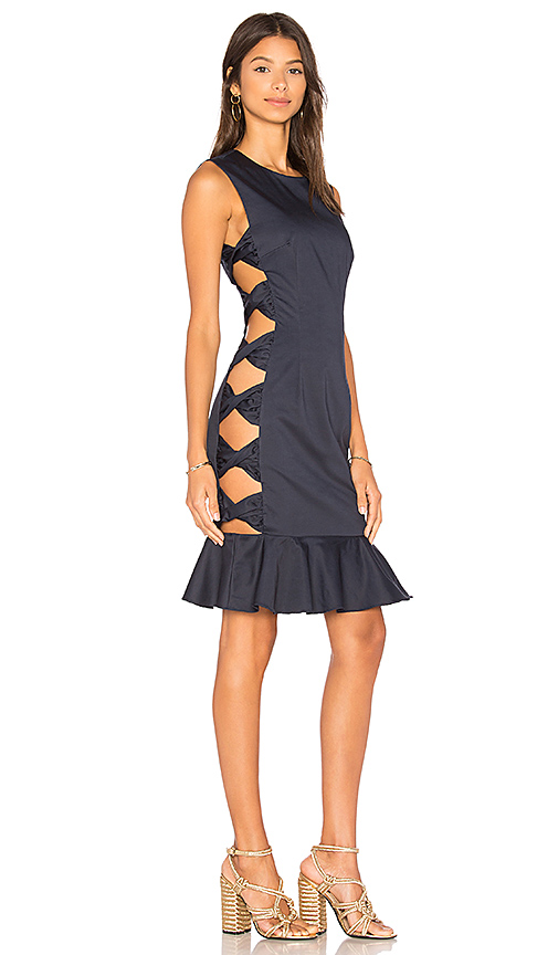 FAME AND PARTNERS x REVOLVE Giovana Dress in Navy