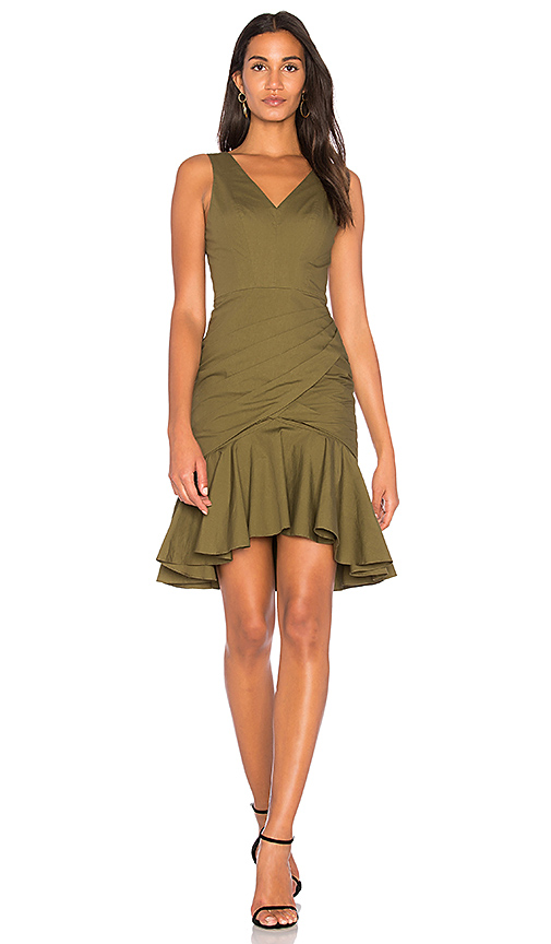 FAME AND PARTNERS The Irina Dress in Olive