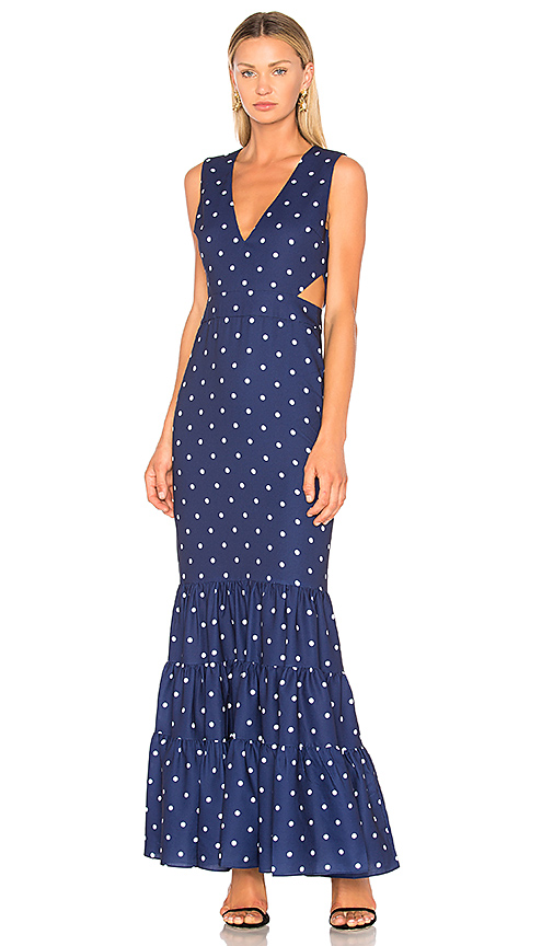 FAME AND PARTNERS x Revolve Alexas Dress in Navy