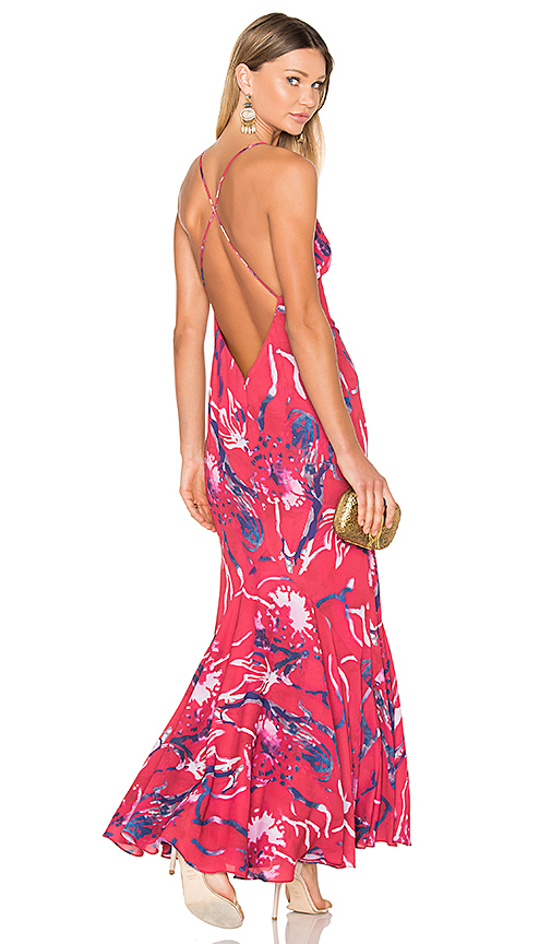 FAME AND PARTNERS X REVOLVE Jackson Maxi Dress in Red