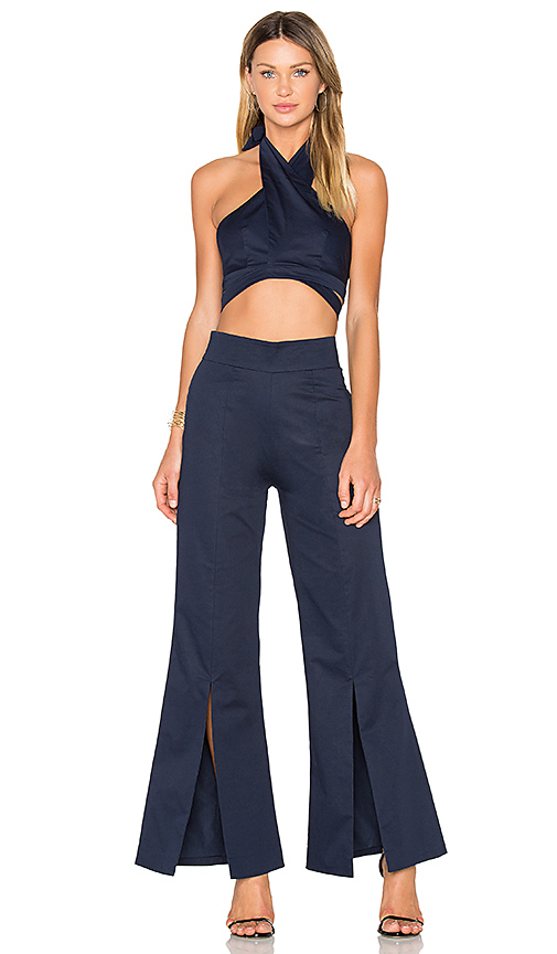 FAME AND PARTNERS X REVOLVE Sonny 2 Piece Set in Navy