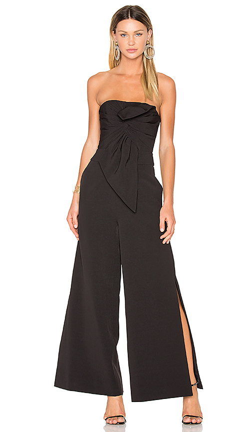 FAME AND PARTNERS X REVOLVE Cecilia Jumpsuit in Black. - size 0 (also in 2,6)