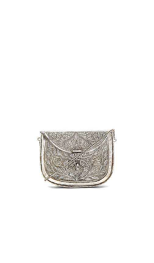 From St Xavier Riley Clutch in Metallic Silver