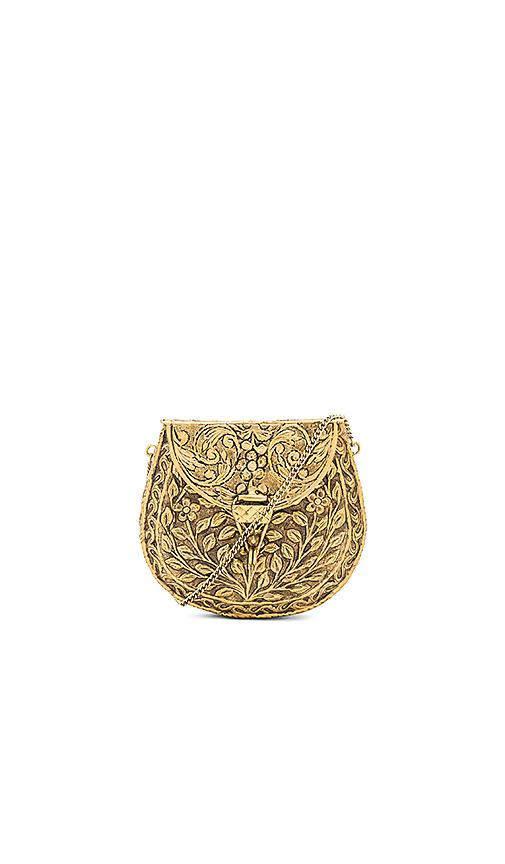 From St Xavier Silva Clutch in Metallic Gold