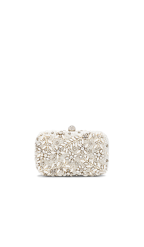 From St Xavier Talon Box Clutch in Ivory