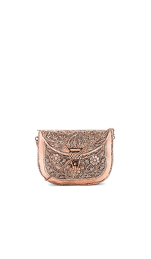 From St Xavier x Revolve Riley Clutch in Metallic Copper