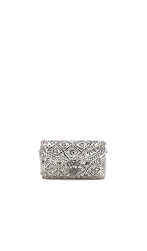 From St Xavier Honor Crossbody in Metallic Silver.