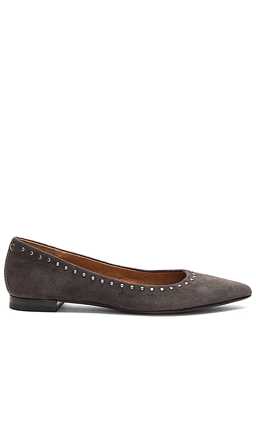 Photo of Frye Sienna Flat in Charcoal - shop Frye shoes sales