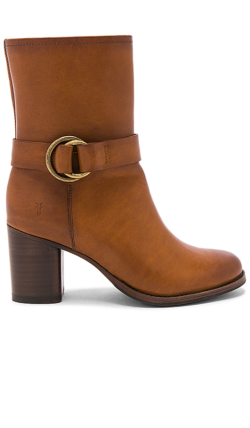 Frye Addie Harness Boot in Cognac
