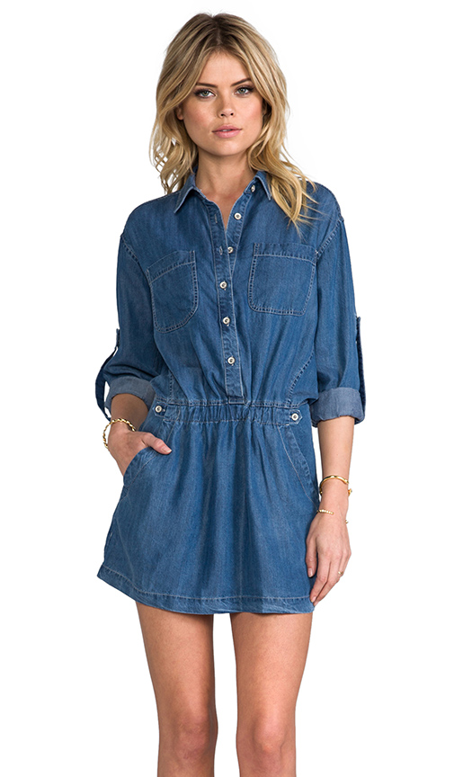 Funktional Blue Hour Shirt Dress in Blue