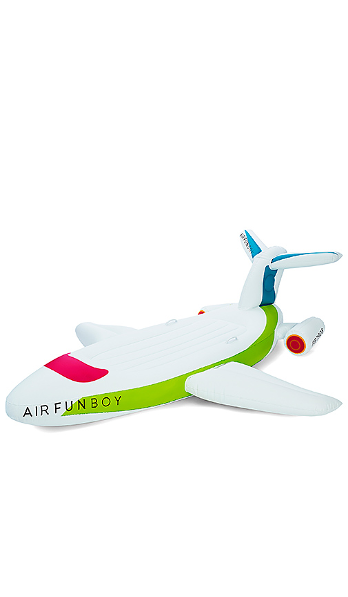 FUNBOY Private Jet Inflatable Pool Float in White