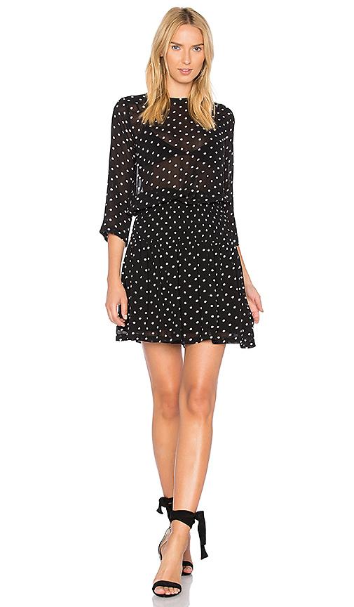 Ganni Monette Georgette Dress in Black
