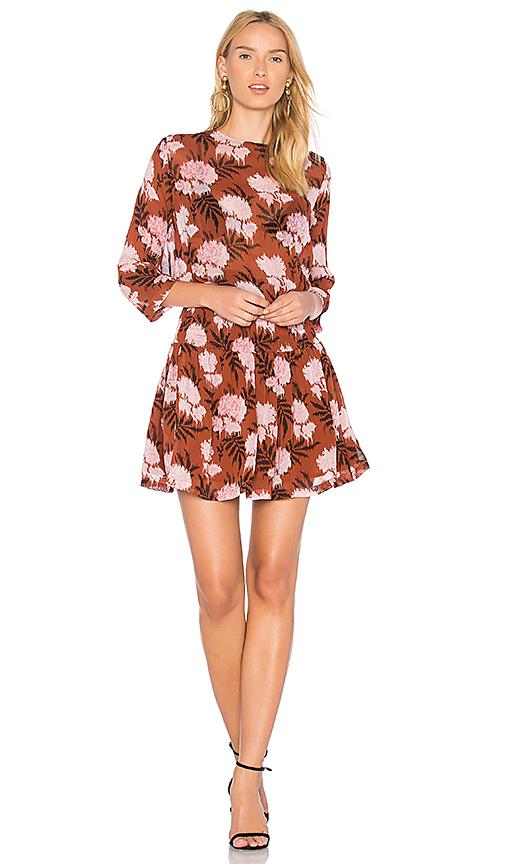 Ganni Monette Georgette Dress in Rust