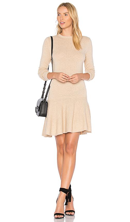 Ganni Mercer Mini Dress in Beige