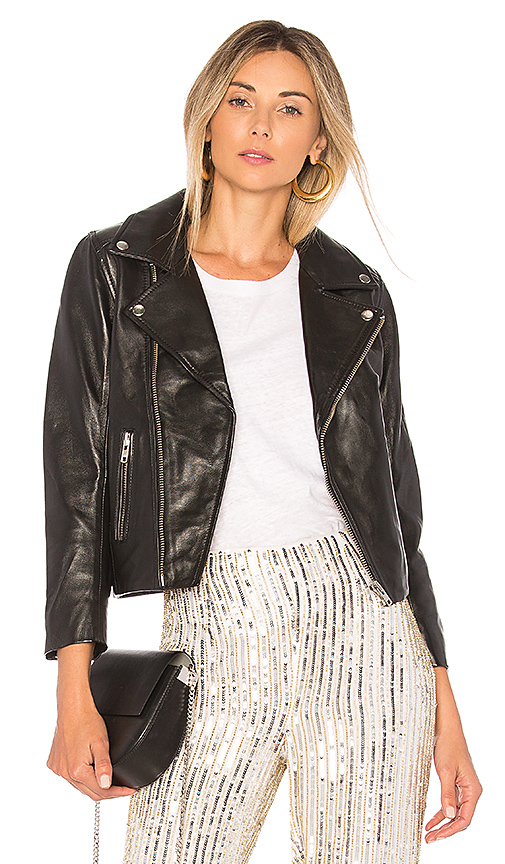 Ganni Biker Jacket in Black