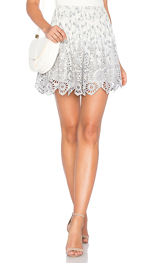 Ganni Emile Lace Skirt in Ivory. - size 34/2 (also in 36/4,38/6,40/8)