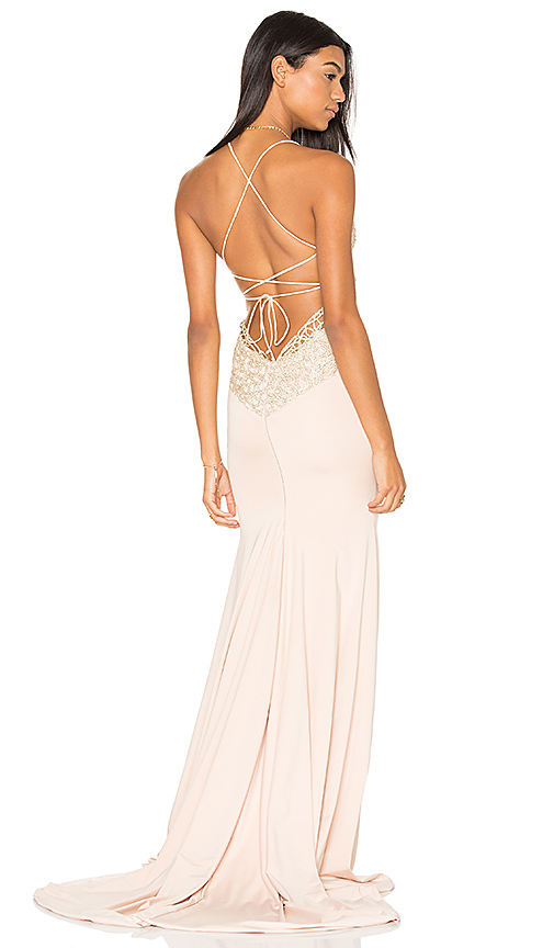 Gemeli Power Jay & Co Gown in Blush