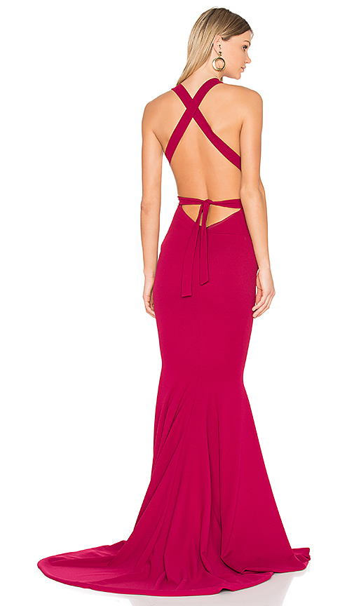 Gemeli Power Las Lasciiv Gown in Red