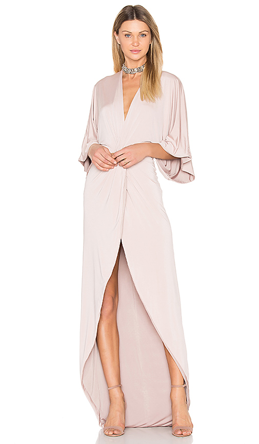 Gemeli Power Peche Robe Gown in Blush