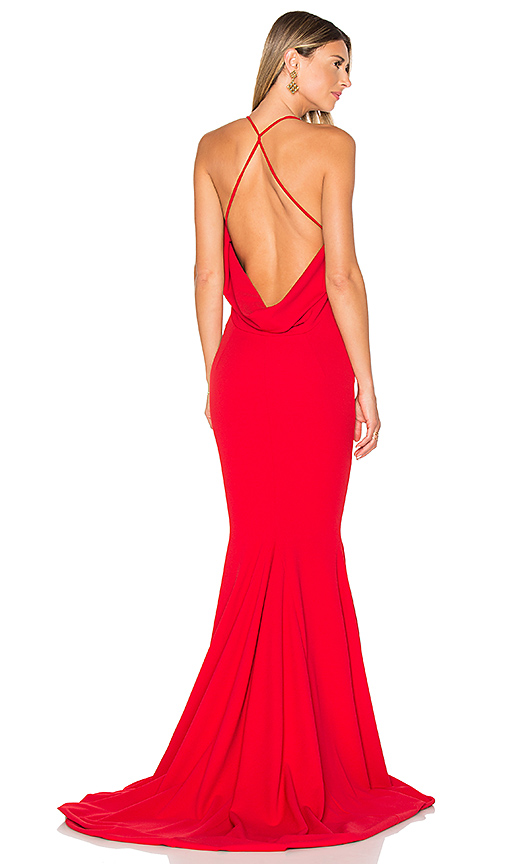 Gemeli Power Barthelemy Gown in Red