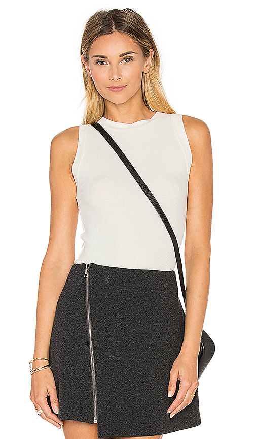 GETTINGBACKTOSQUAREONE The Rib Muscle Tank in Ivory